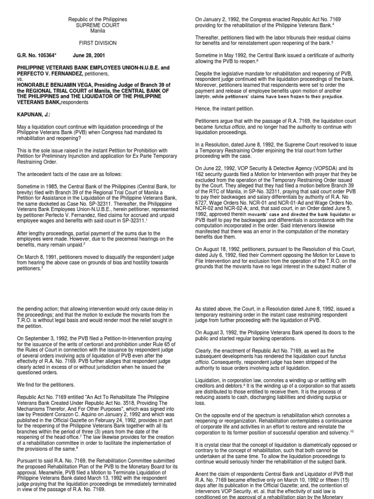 statcon 2 docx | Liquidation | Ratification