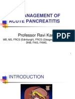 Management of Acute Pancreatitis