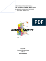 Trabajo de Estado Tachira