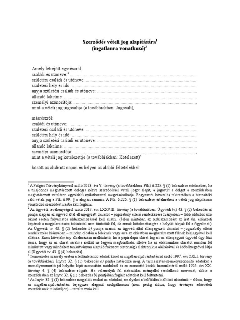 opciós megállapodás és opciós megállapodás)