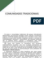 COMUNIDADES TRADICIONAIS