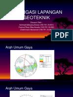 Invetigasi Lapangan Geoteknik Proyek