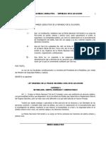 Ley Policía Nacional Civil de El Salvador