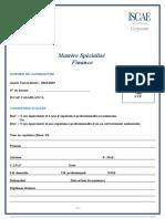 Dossier DInscription MSF 2018 2019 ISCAE Casablanca