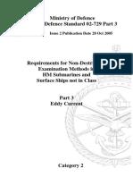 Requirements for Non-Destructive Examination Methods Eddy Current