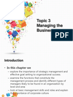 Topic 3 - Managing the Business