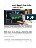 Trik Download Game Poker Online Uang Asli Android