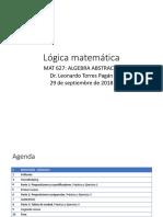MAT 627 Modulo 1 Logica Matematica FINAL