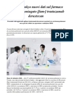 Daiichi Sankyo Nuovi Dati Sul Farmaco Anticorpo-coniugato [Fam-] Trastuzumab Deruxtecan