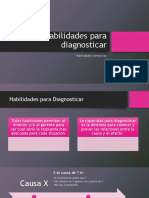 Habilidades de Diagnostico