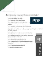 Tema4 La Evaluación Como Problema Metodológico