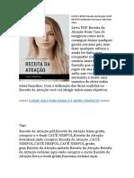G1— Livro E-book Receita Da Atração Cauê Nespoli