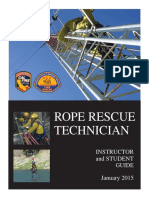 ROPE RESCUE TECHNICIAN INSTRUCTOR and STUDENT GUIDE January 2015
