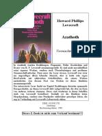 Lovecraft, H. P. - Azathoth-Vermischte Schriften