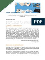 Administración Su Definición y Las Características Que Presenta