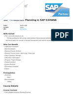 Production Planning in Sap s4hana