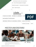 Dirección Integrada de Proyectos _ La Salle _ Campus Barcelona