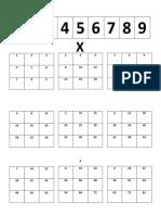 tabla multiplicativa