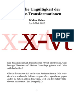 Über die Ungültigkeit der Lorentz-Transformationen