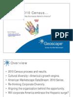 Geoscape 2010 Census Report