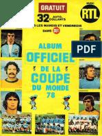 Abum Officiel de La Coupe Du Monde 1978 (RTL)