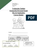Evaluación Formacion Personal Septiembre Kinder 2018 Corregida1