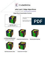 Useful Last 2 Edges Algorithms 4x4