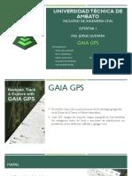 Gaia GPS Optativa 1 Grupo A