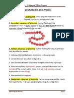Proteins IAL Edexcel Unit 1