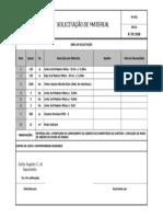 Formulário de Solicitação de Material
