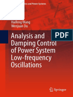 Analysis and Damping Control of Power System Low-frequency Oscillations