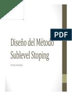 Clase 4 Diseño Del Metodo SubLevel Stoping-Sistemas Mineros