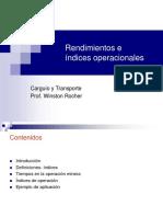 Rendimientos e Indices Operacionales-U de Chile