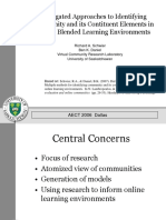 Aggregated Approaches to Identifying Community and Its Constituent Elements in Formal Blended Learning Environments