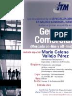 Primer Encuentro en Gerencia Comercial (Mercado on-line y off-line) ITM