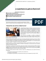 Superintendencia de Bancos Asume Control Reportes a Dinardap Ecuador
