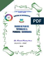 Caratula Folder de Plan de Tutoria de i.e. 2018
