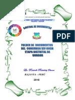 Caratula Folder Onem Etapa Distrital de Gorgor 2018