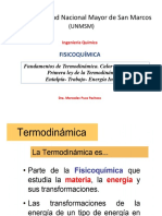 Semana 4 5 Termodinamica Ley Cero 1ra Ley de La Termodinamica Entalpia Trabajo Energia Interna