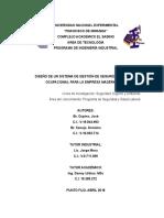 Diseño de Un Sistema de Gestión de Seguridad e Higiene Ocupacional Para La Empresa Maderka c.a. (2)