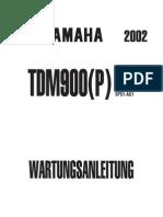 Wartungsanleitung Yamaha TDM 900 (P) Ab 01-03 (German)