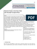 Numerical Study on Steel Shear Walls