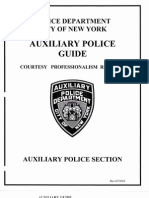 NYPD Auxiliary Patrol Guide