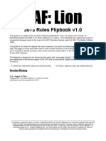 RAF Lion Flipbook 2013 Rules v 1.0
