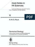 Numerical Geology a Source Guide Glossary and Selective Bibliography to Geological Uses 1