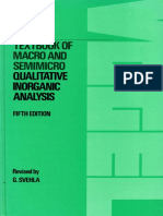 Textbook of Qualitative Inorganic Analysis