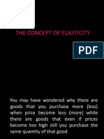 The Concept of Elasticity