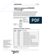 Tarjeta de Opciones Del Medidor de Consumo ION6200