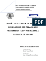 TERUEL - Diseño y cálculo de un reductor de velocidad con relación de transmisión 16,01 y par máx....pdf