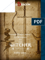 Old Dragon O Mundo de the Witcher Inventário